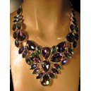 Mystic Topaz. 925 Sterling silver necklace.