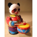 Oso Panda de chapa hojalata con tambor