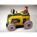 Tin tractor moving