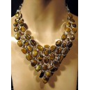 Yellow tiger eye. Incredible 925 sterling silver necklace.