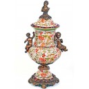 Porcelaine and bronze vase, 56 cm., Luis XV Royal style.