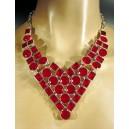 Impresionante collar de auténticos rubíes de Cachemira (India - Pakistán) y plata de 925 milésimas