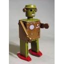 Hombre robot atómico. Autómata de chapa.